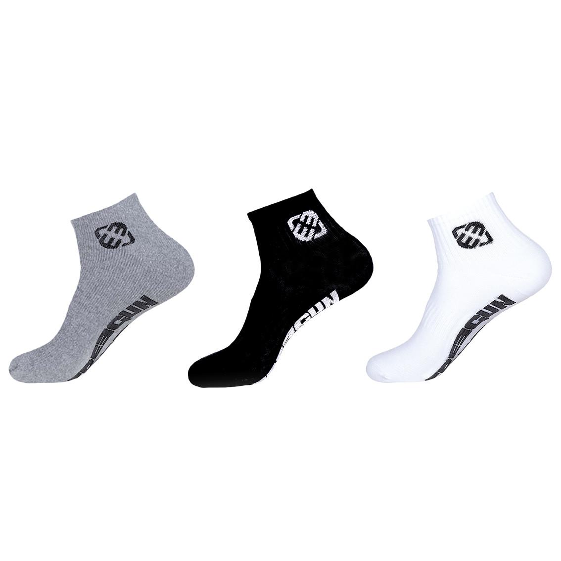 Lot de 3 paires de chaussettes lowcuts garçon assortis