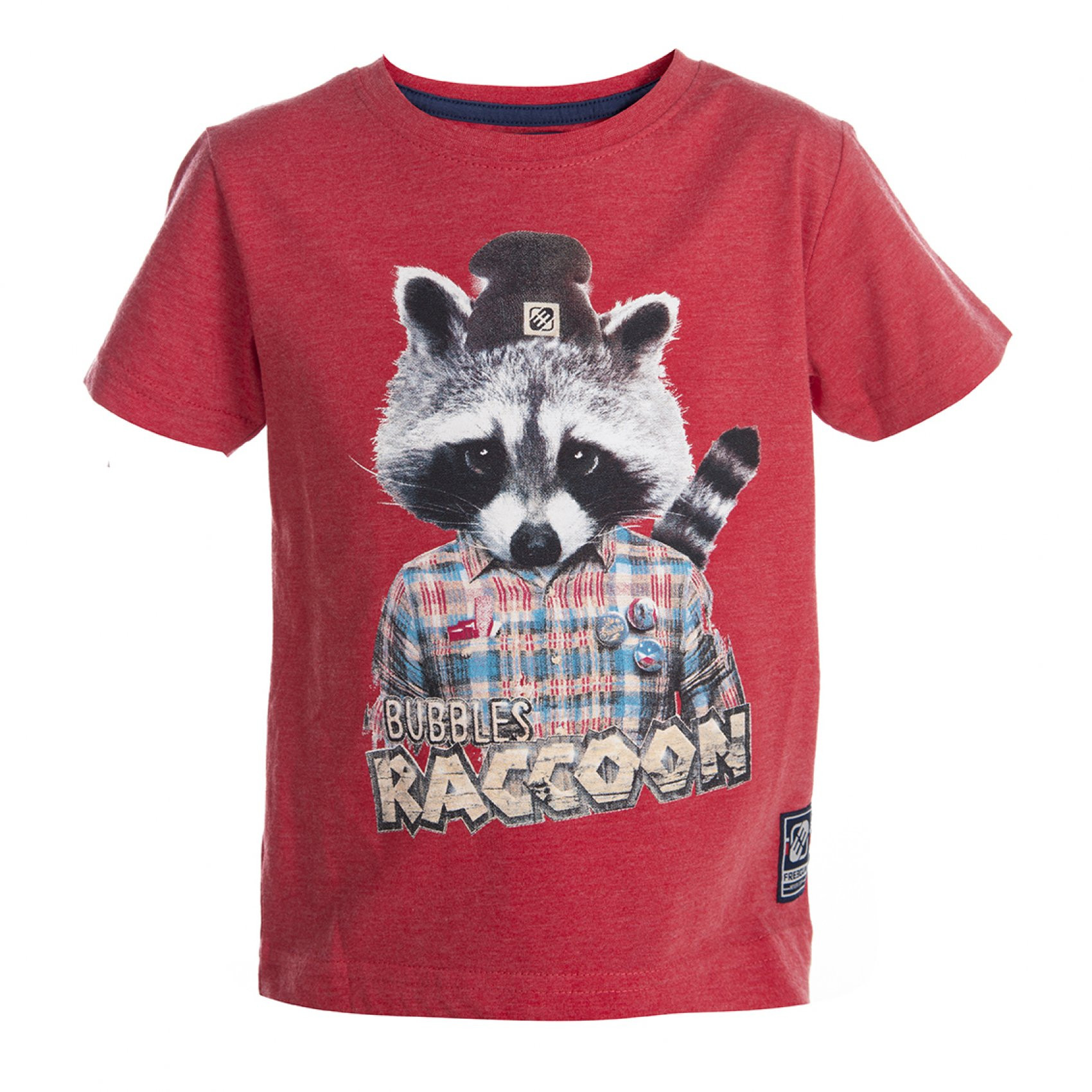T-shirt baby garçon rouge freegun (photo)