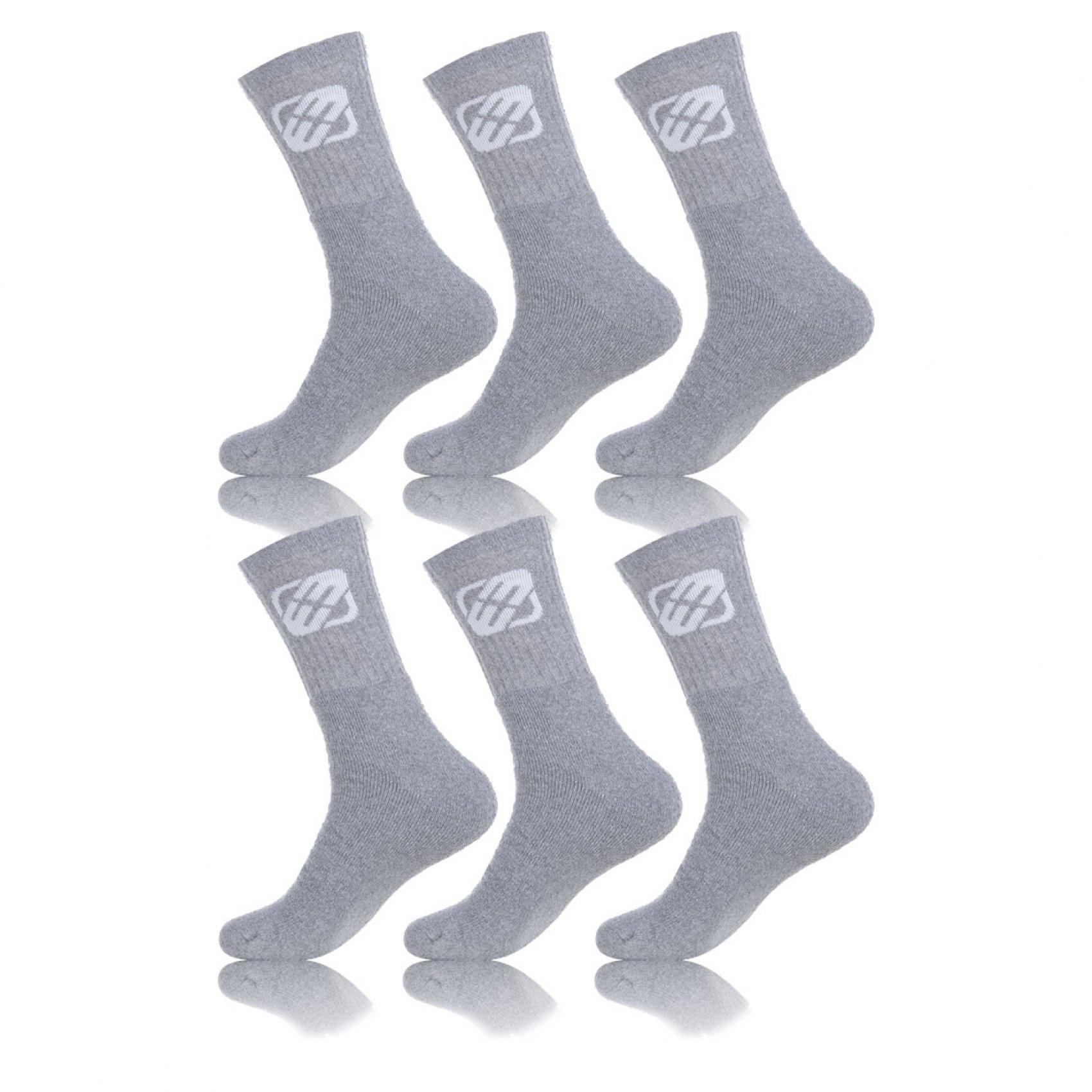 Lot de 6 paires de chaussettes homme uni grises (photo)