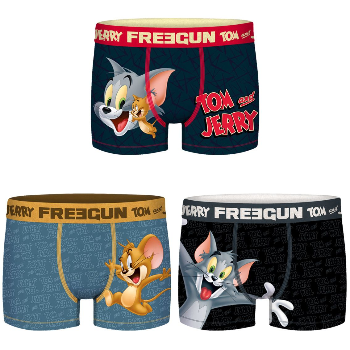 Lot de 3 boxers freegun homme tom and jerry