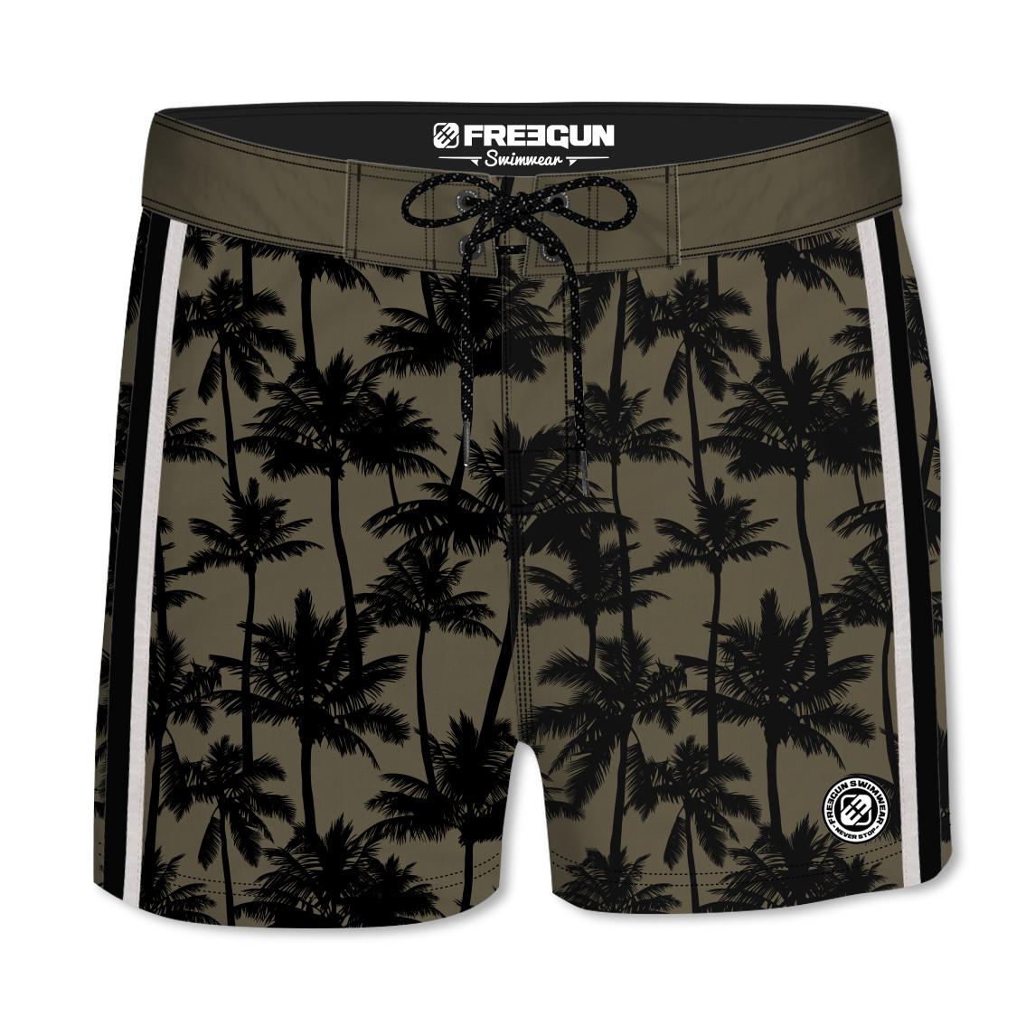 Boardshort court freegun homme palmier