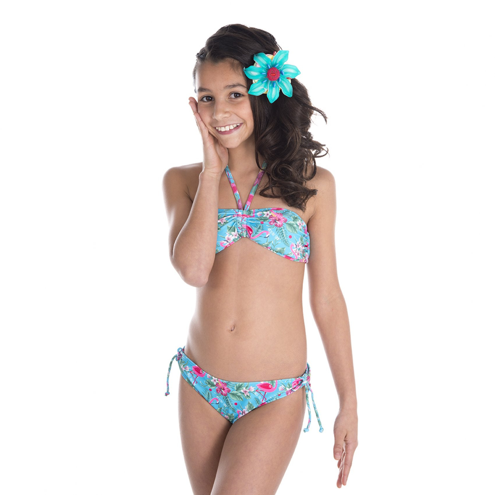 Maillot de bain fille 2 pièces miss freegun (photo)