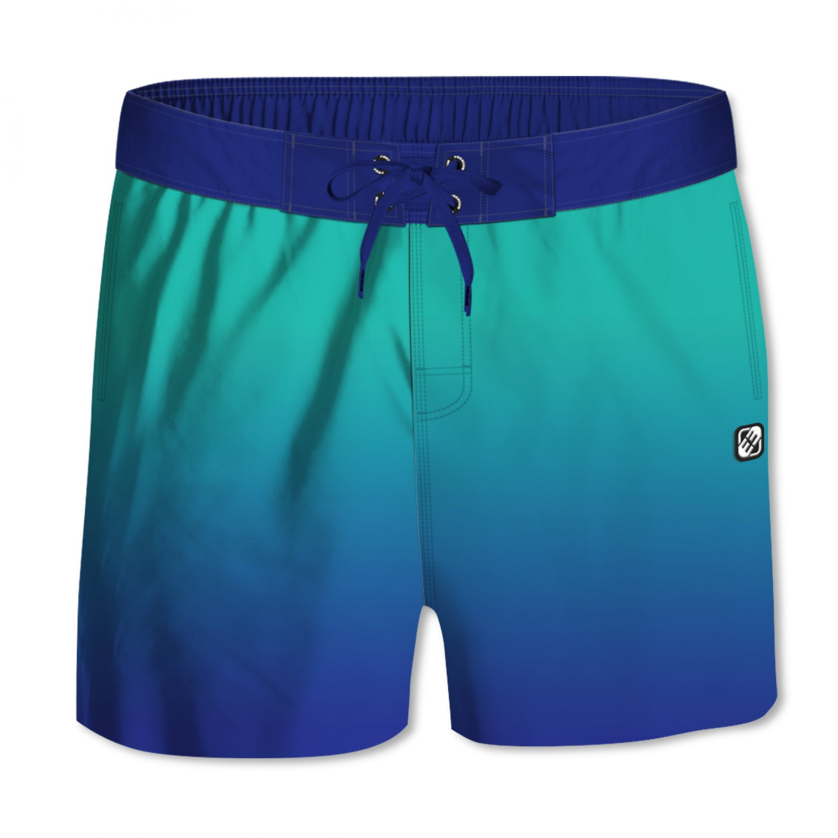 Boardshort homme dégradé bleu (photo)