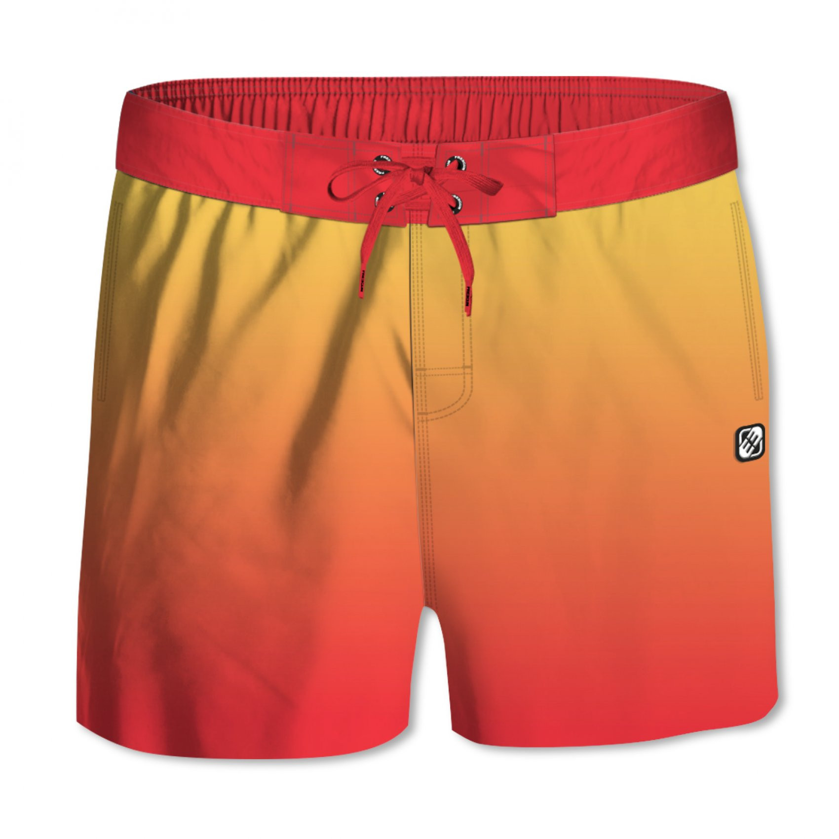 Boardshort garçon dégradé rouge (photo)