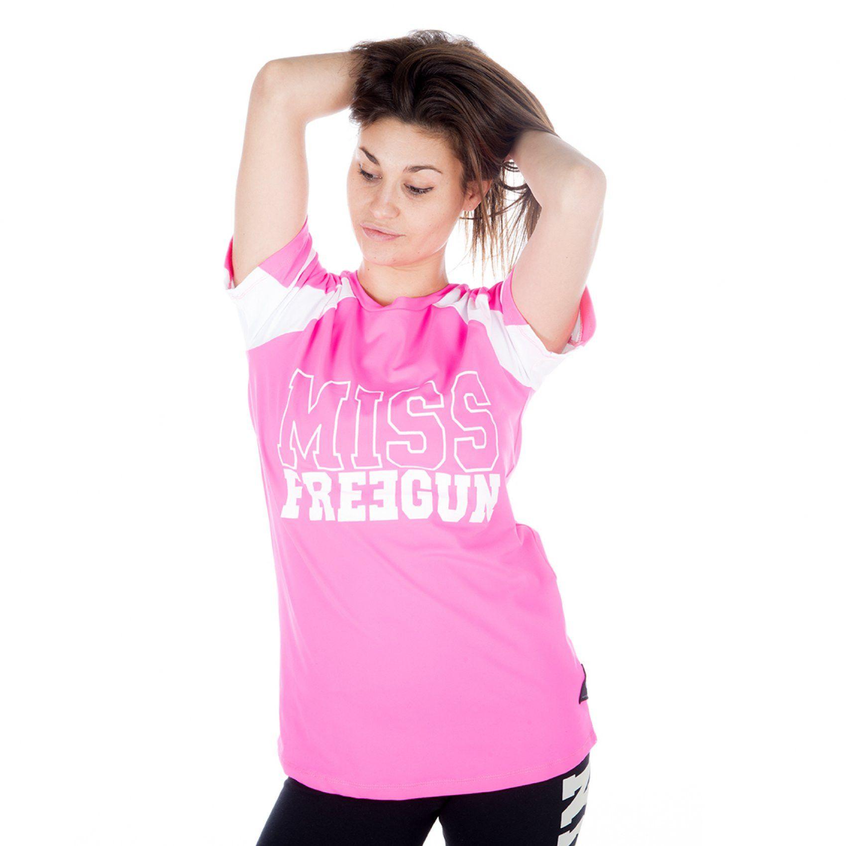 T-shirt freegun femme manches courtes