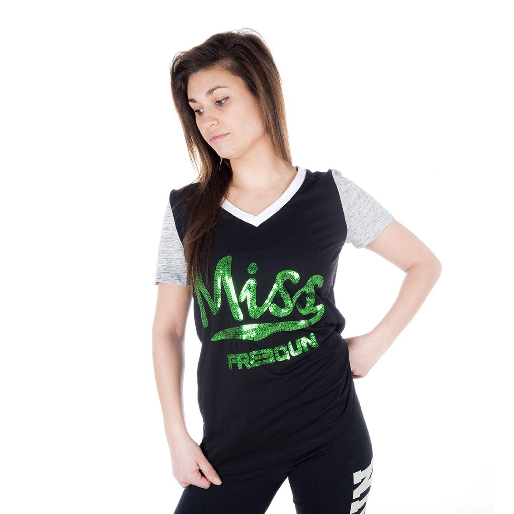 T-shirt freegun femme manches courtes uni