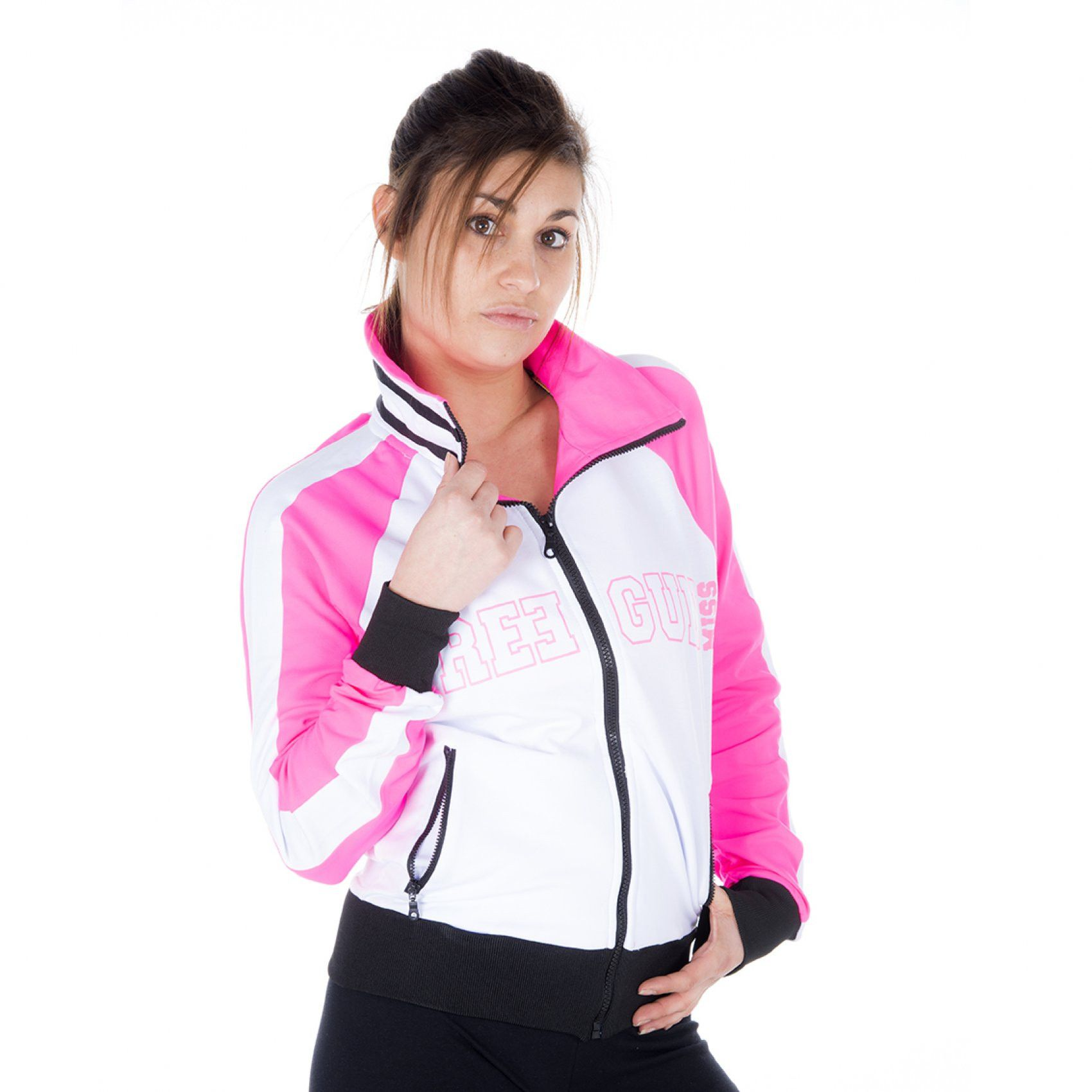Sweat femme tricolore miss freegun (photo)