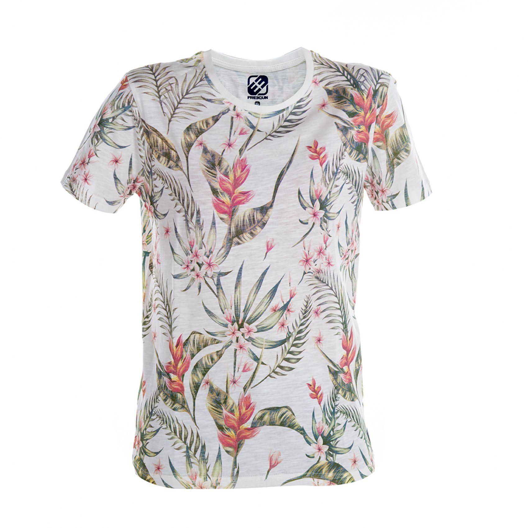 T-shirt garçon fleurs (photo)