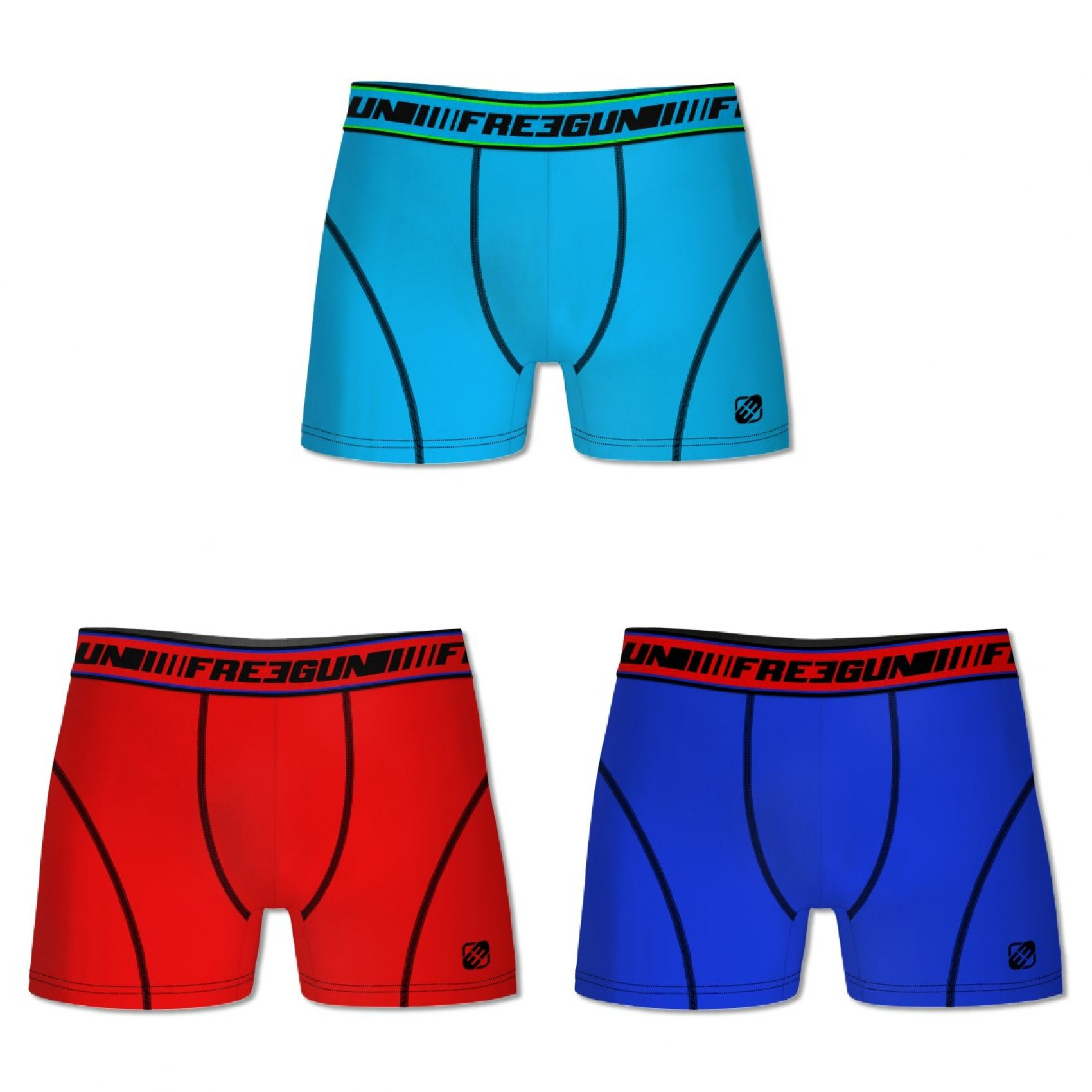 Lot de 3 boxers coton homme clim multicolore (photo)