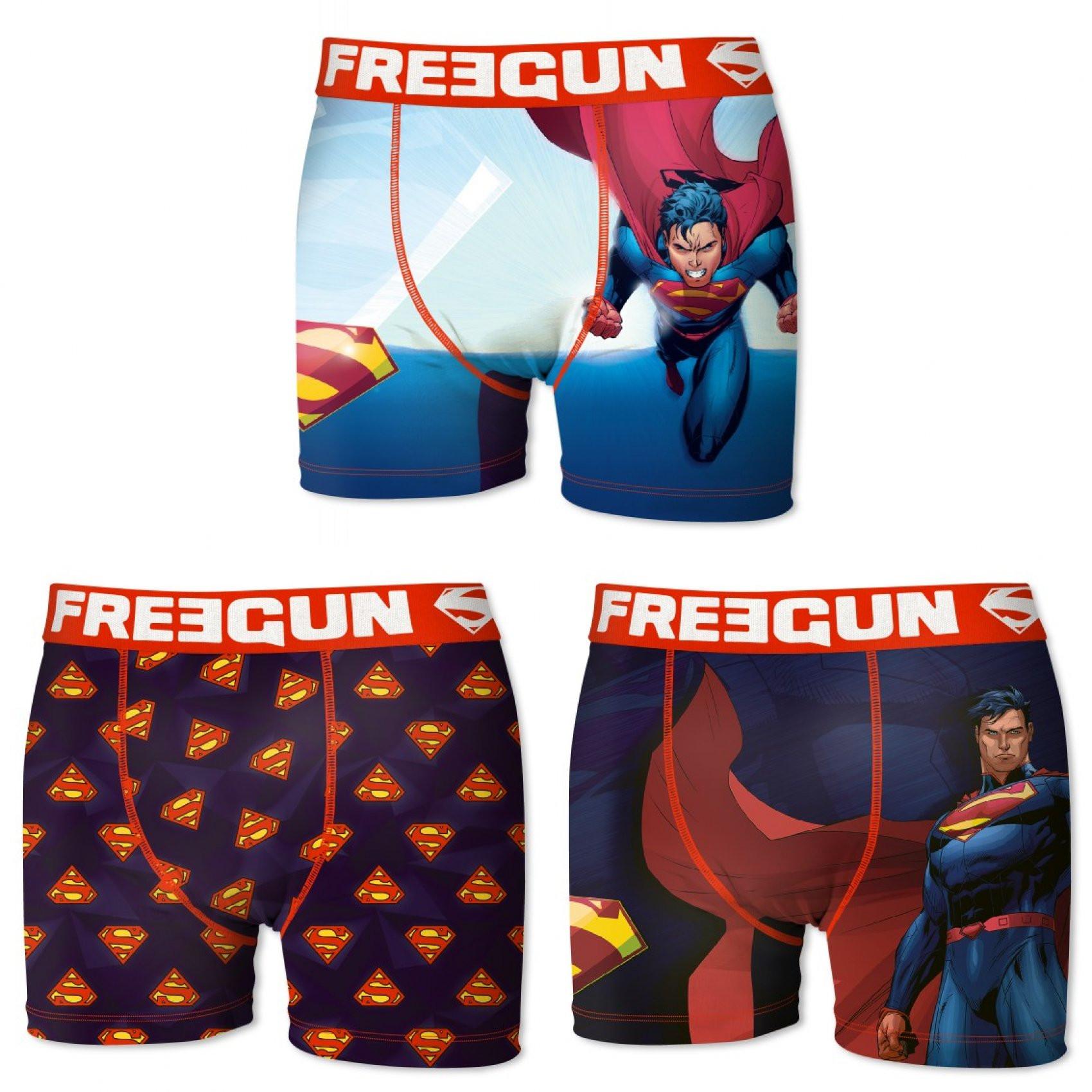 Lot de 3 boxers freegun homme dc comics superman (photo)