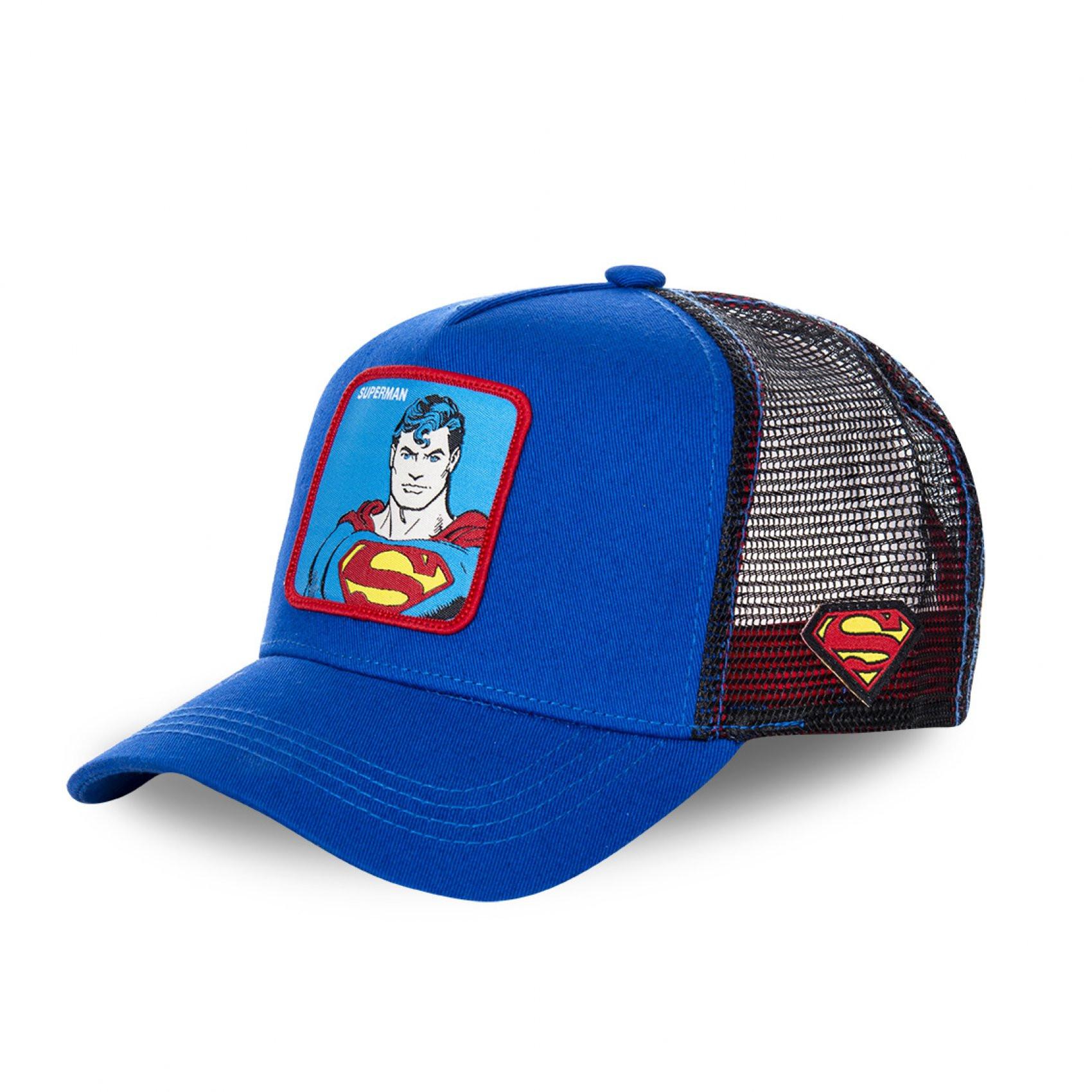 Casquette capslab dc comics superman bleu
