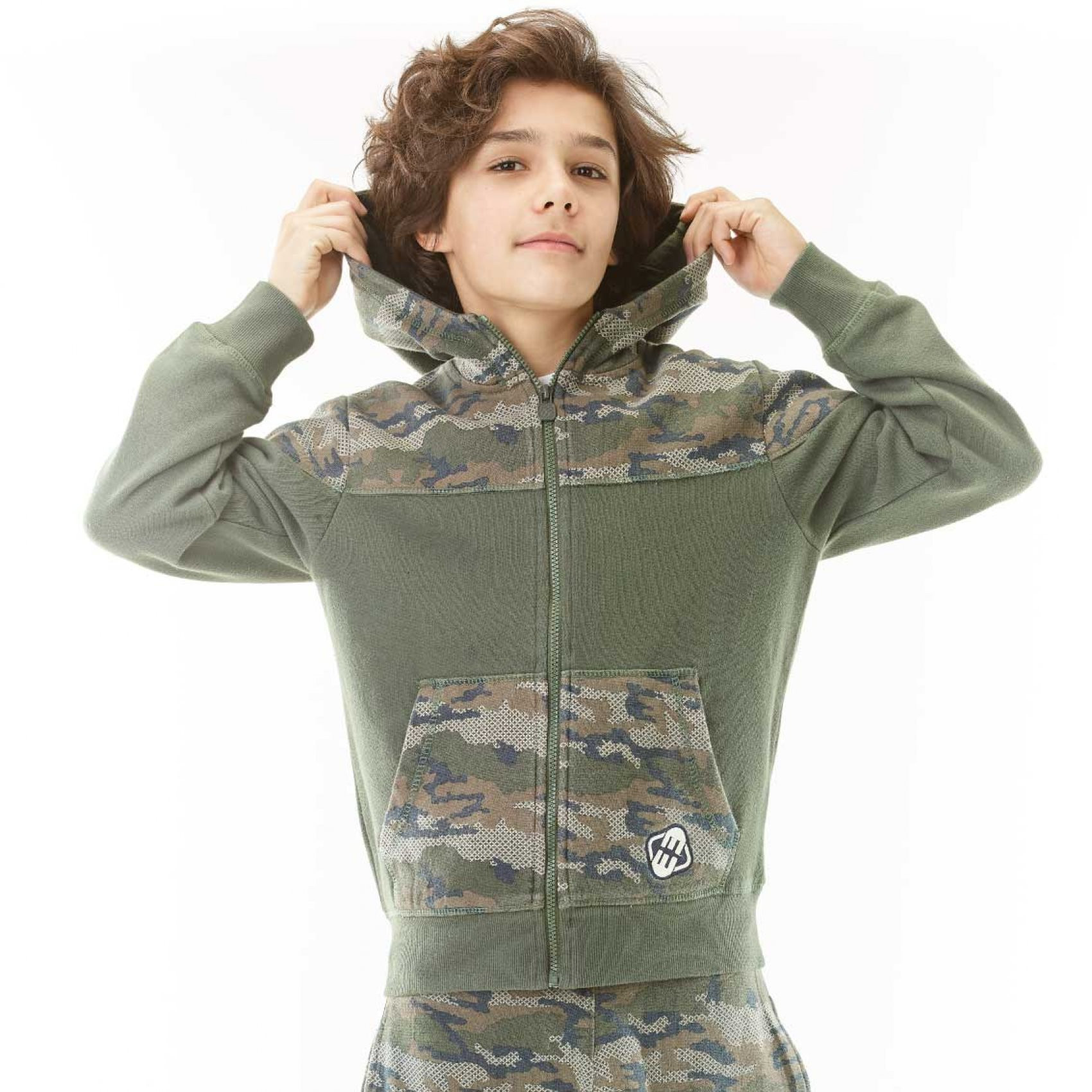 Sweat zippé garçon camouflage freegun (photo)