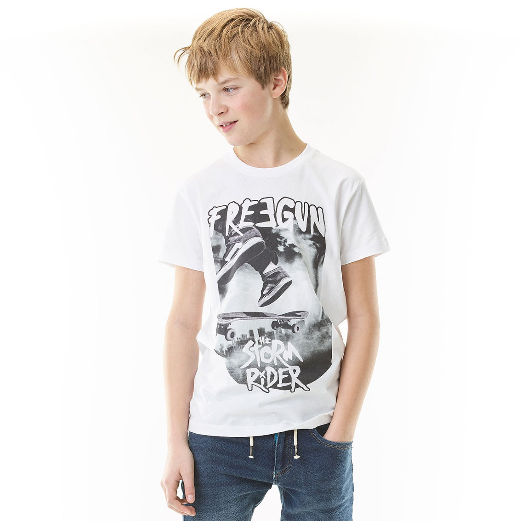 T-shirt garçon storm rider freegun (photo)