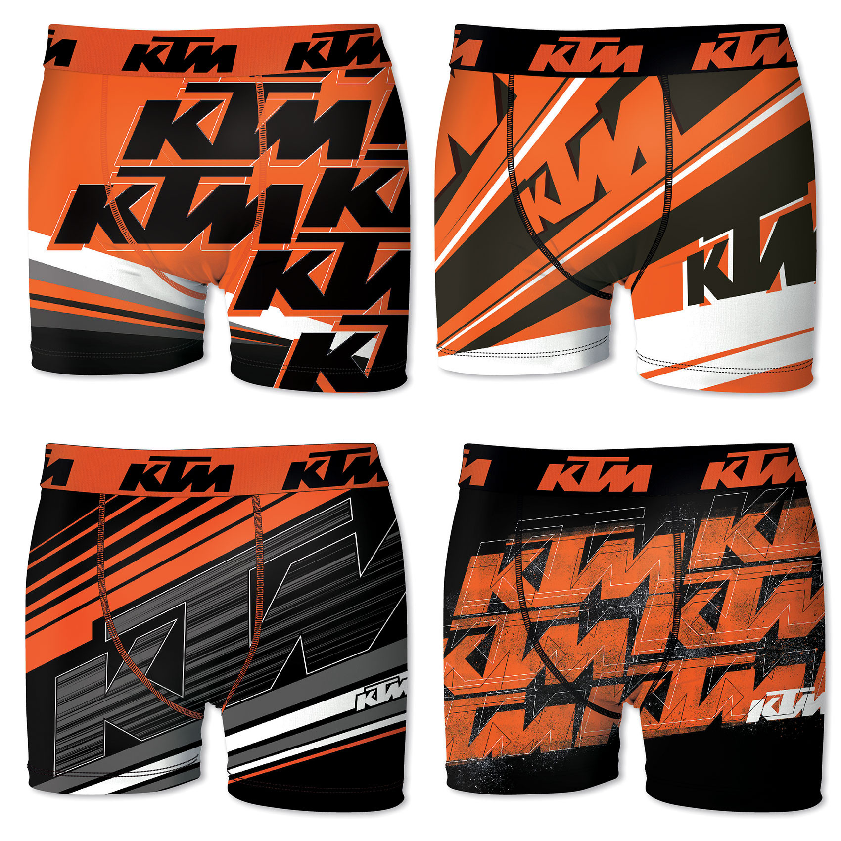 Lot de 4 boxers freegun homme ktm