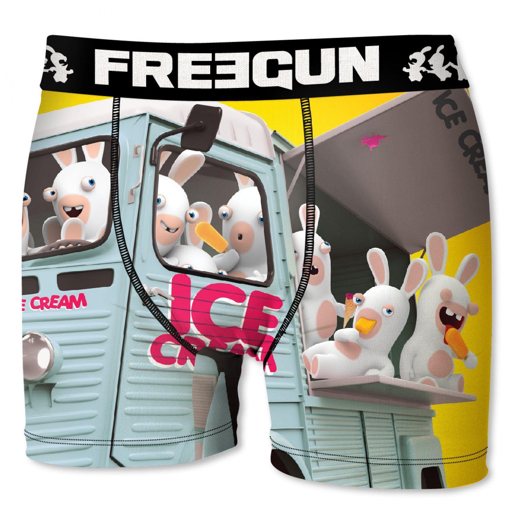 Boxer freegun garçon lapins crétins ice cream