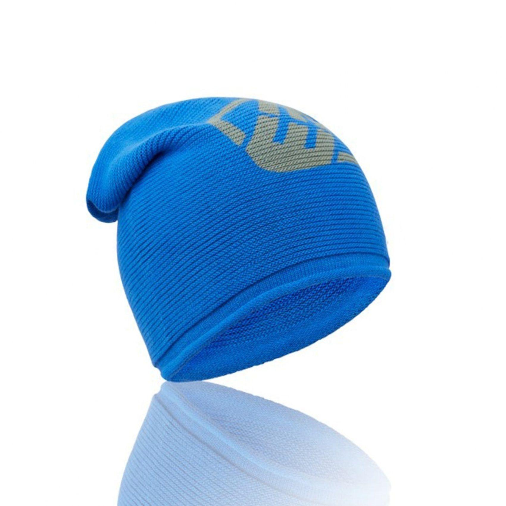 Bonnet homme logo bleu (photo)