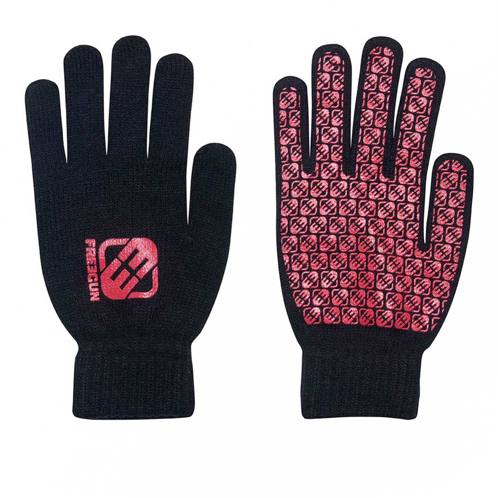 Paire de gants homme logo rouge freegun (photo)