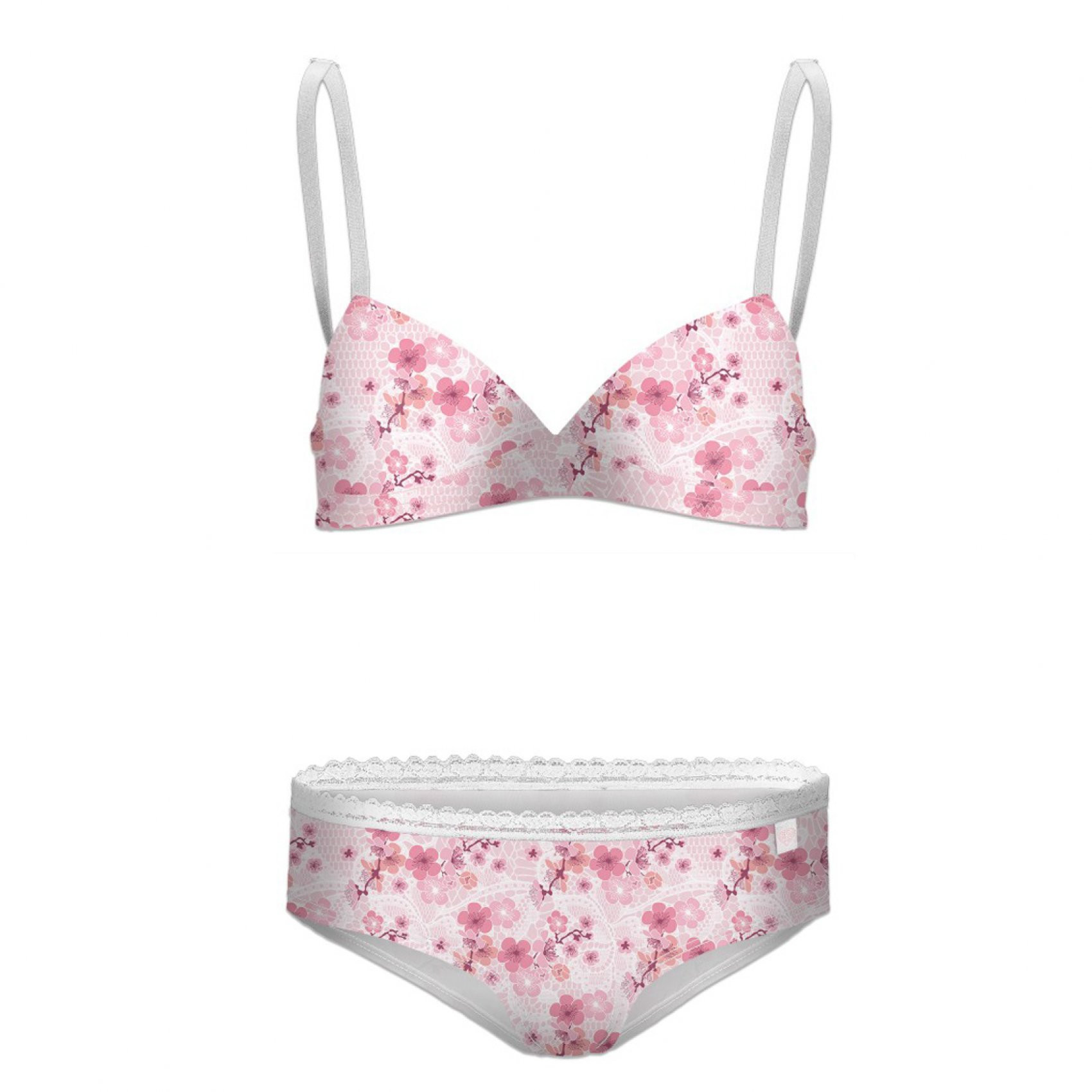 Ensemble boxer fille fleurs miss freegun (photo)