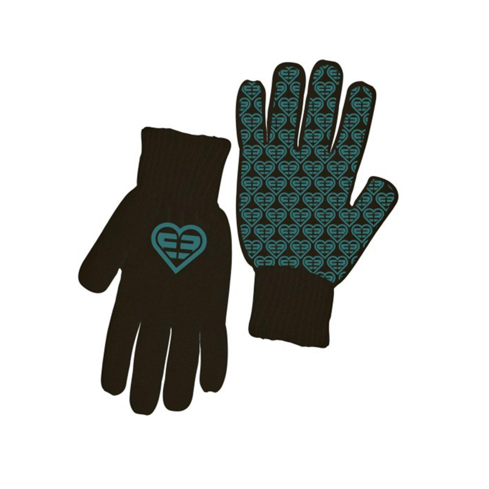 Paire de gants femme logo bleu freegun (photo)