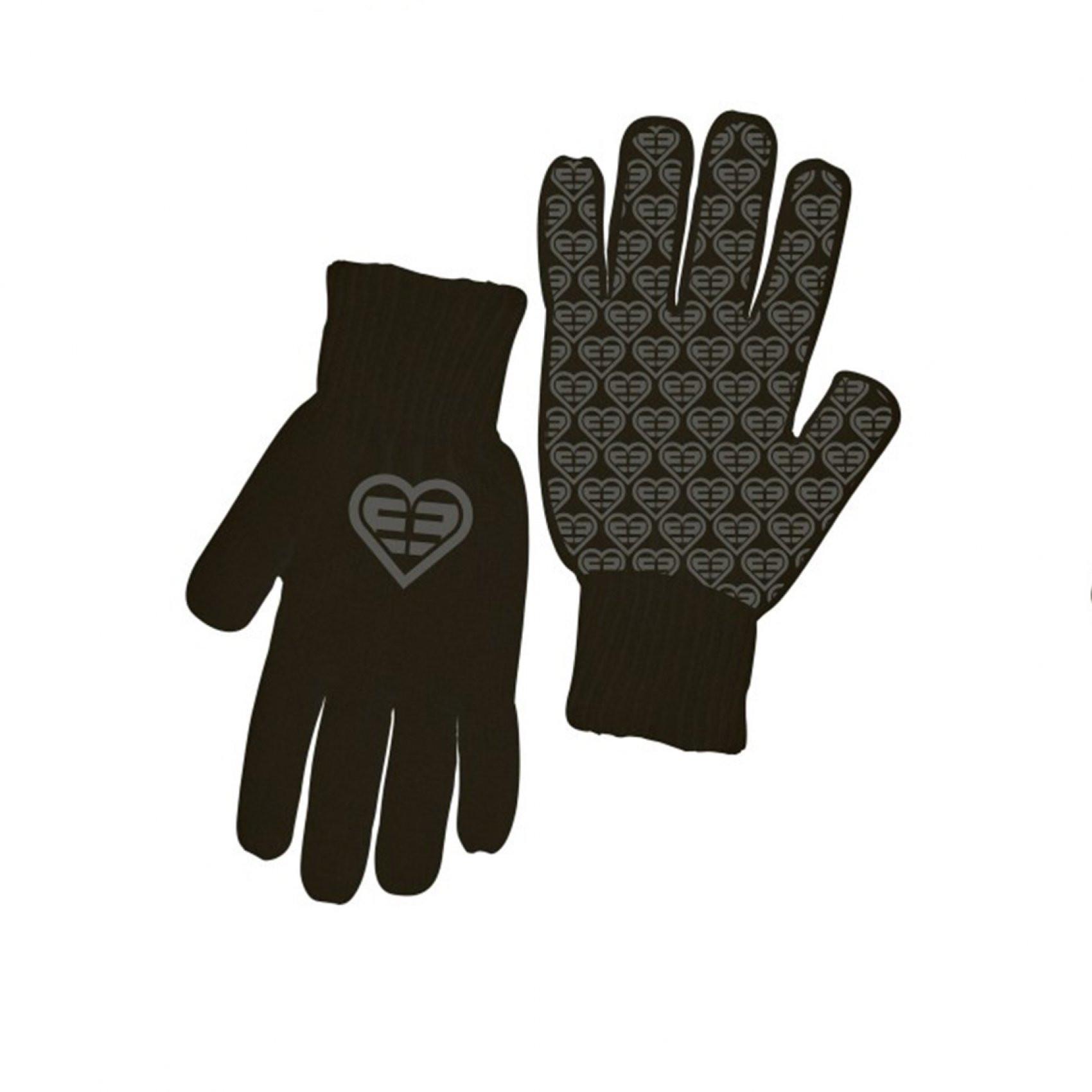 Paire de gants fille logo gris freegun (photo)