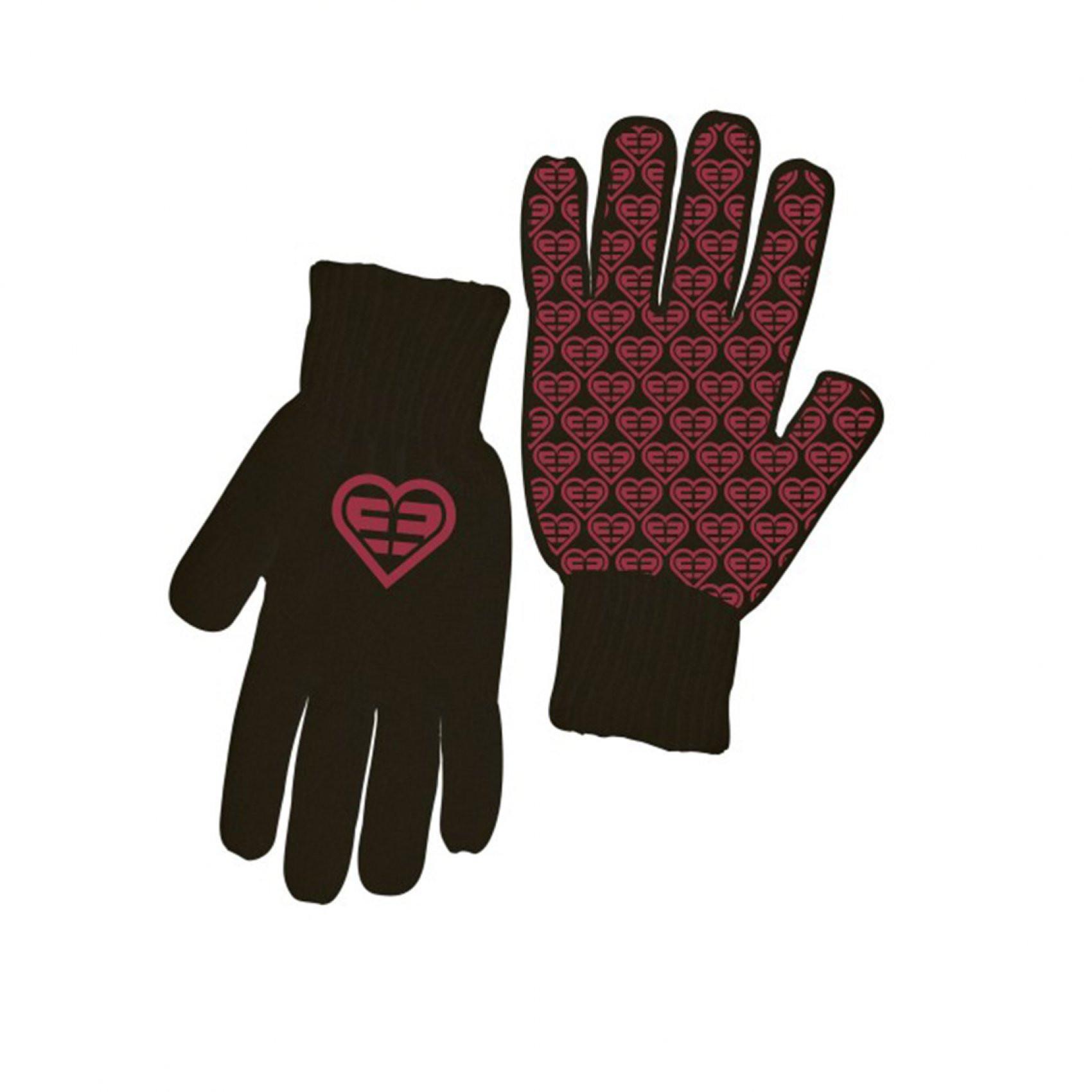 Paire de gants fille logo rose freegun (photo)