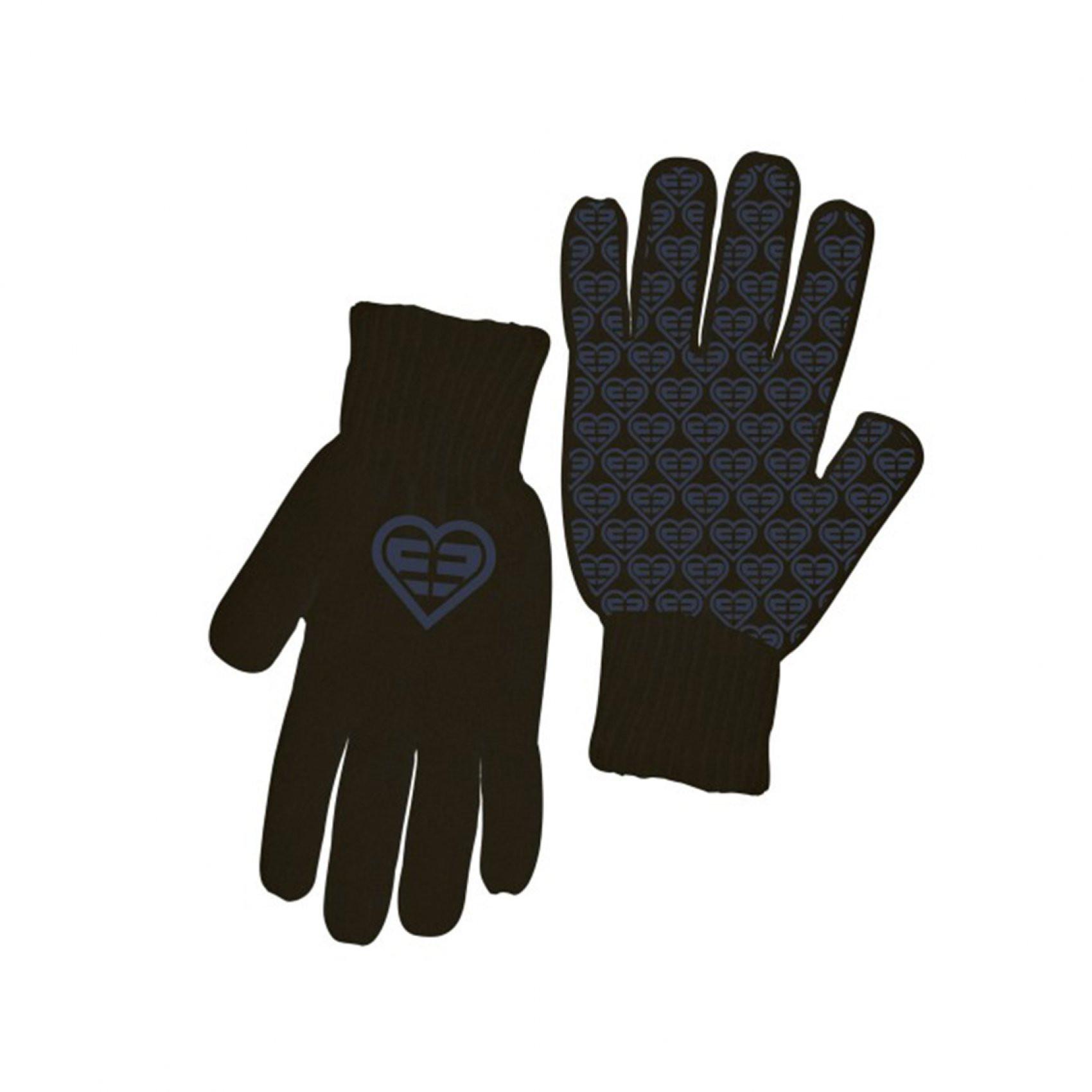 Paire de gants fille logo violet freegun (photo)