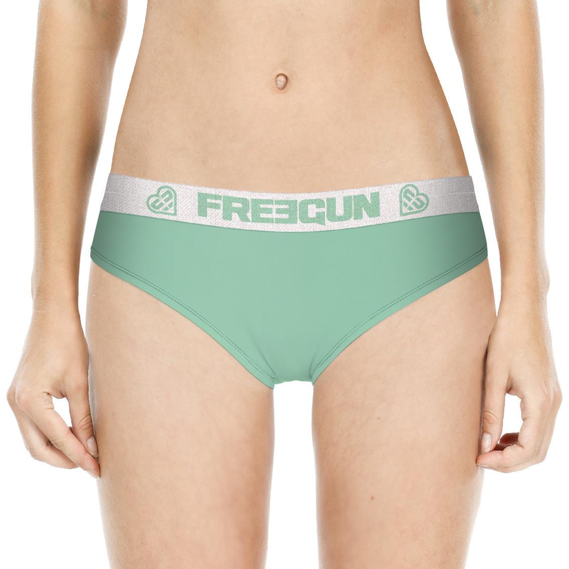 Boxer femme uni vert miss freegun (photo)