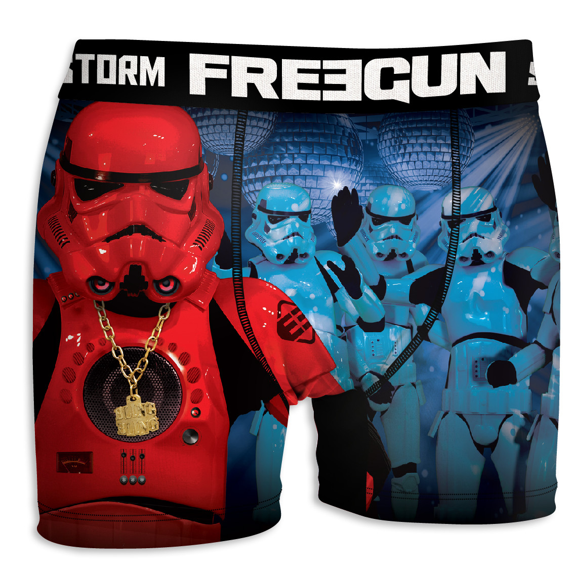 Boxer homme freegun stormtrooper club bleu (photo)