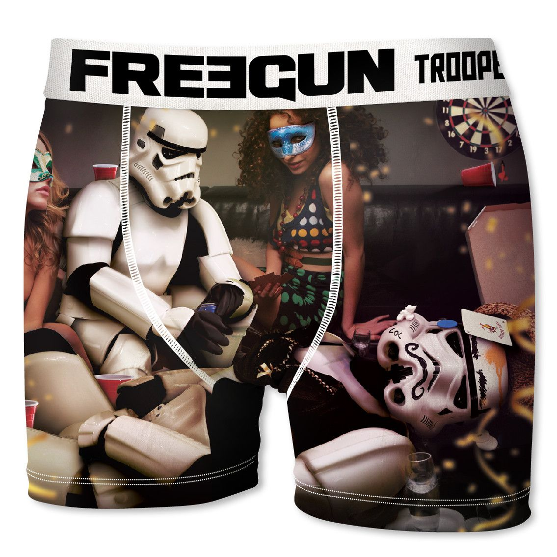 Boxer homme freegun stormtrooper mask blanc (photo)