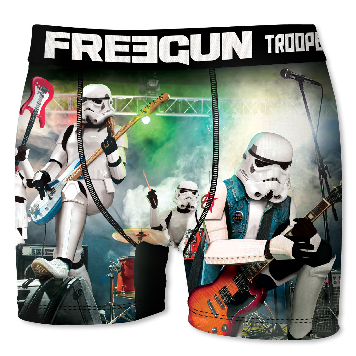 Boxer homme freegun stormtrooper rock blanc (photo)