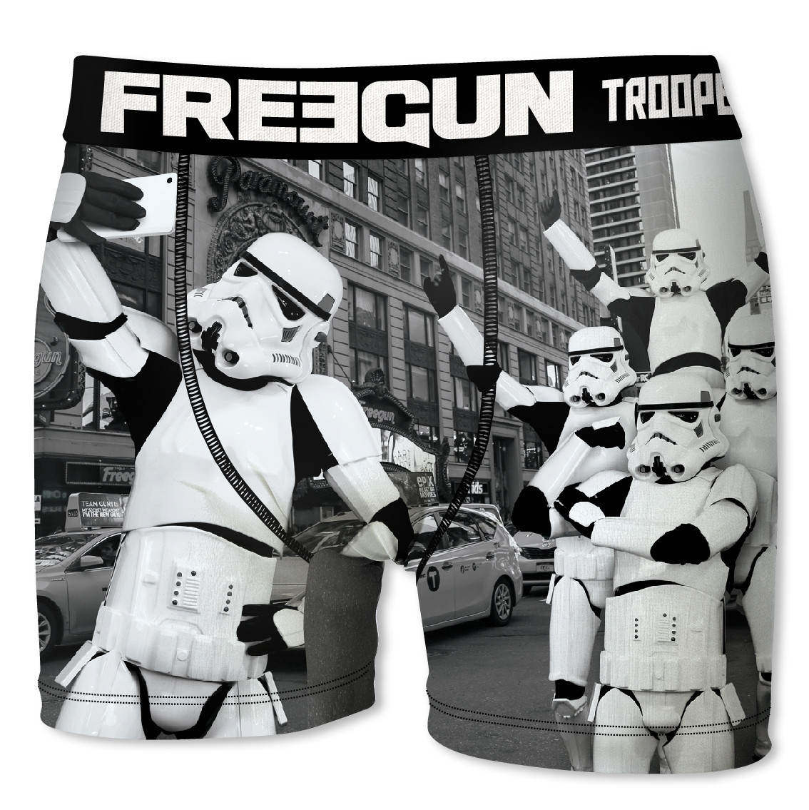 Boxer homme freegun stormtrooper street gris (photo)