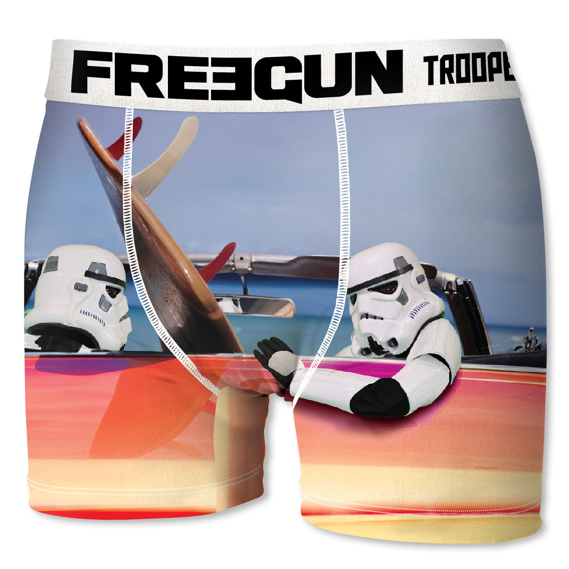 Boxer homme freegun stormtrooper surf bleu (photo)