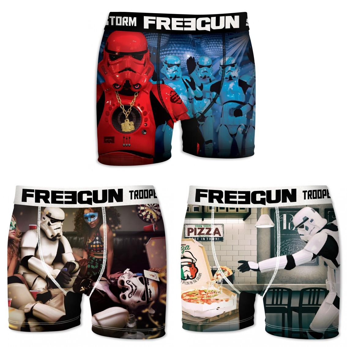 Lot de 3 boxers homme freegun stormtroopers multicolore (photo)