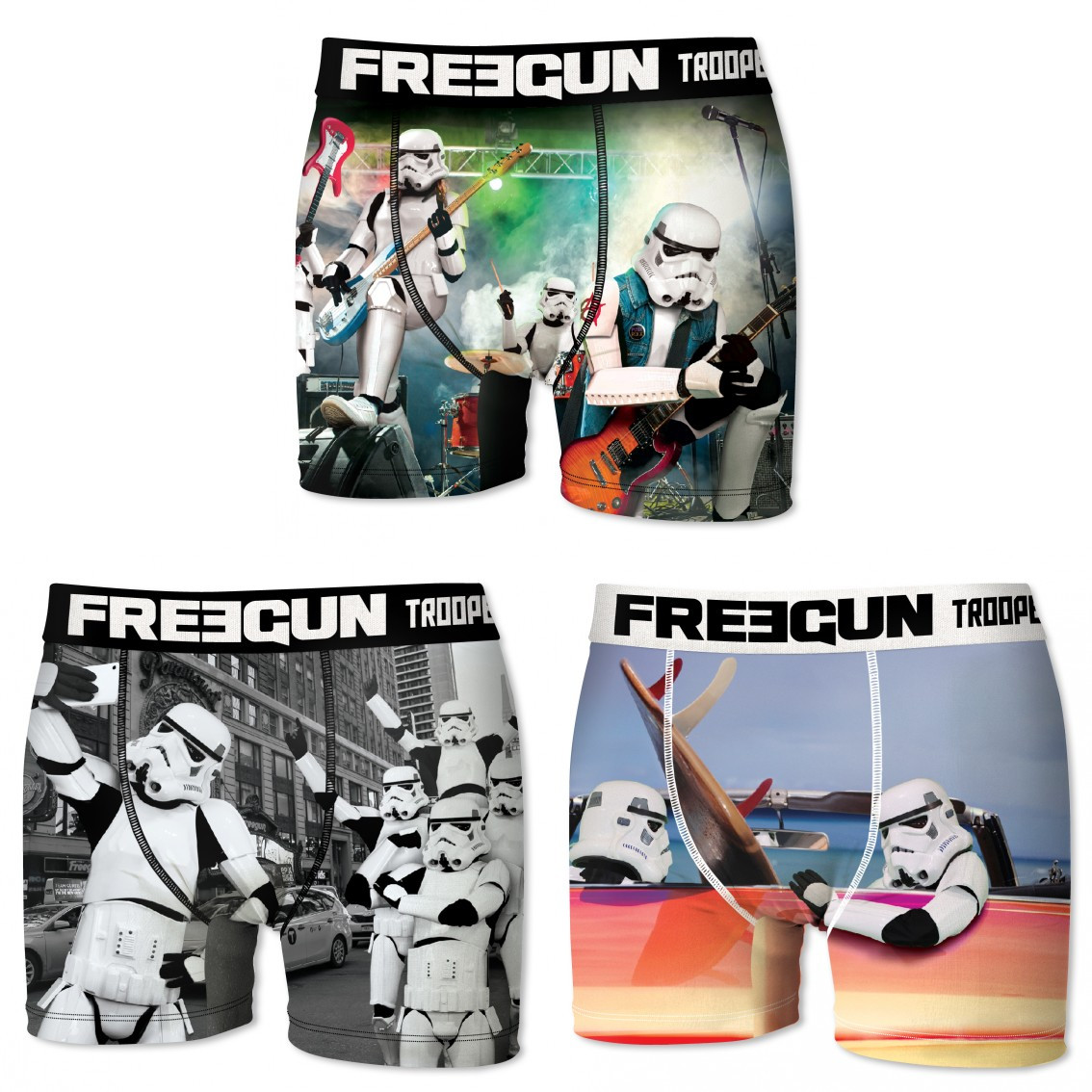 Lot de 3 boxers homme freegun stormtrooper multicolore (photo)