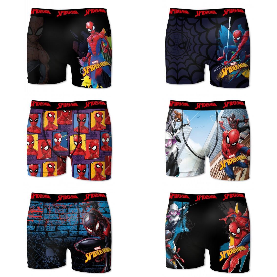 Lot de 6 boxers freegun garçon spider-man comics