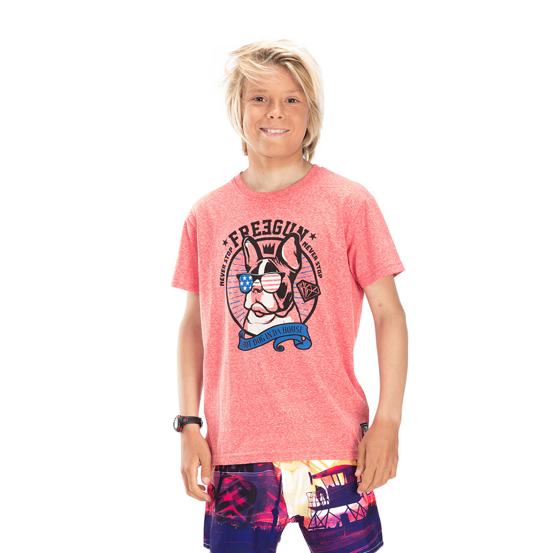 T-shirt freegun dog rose (photo)