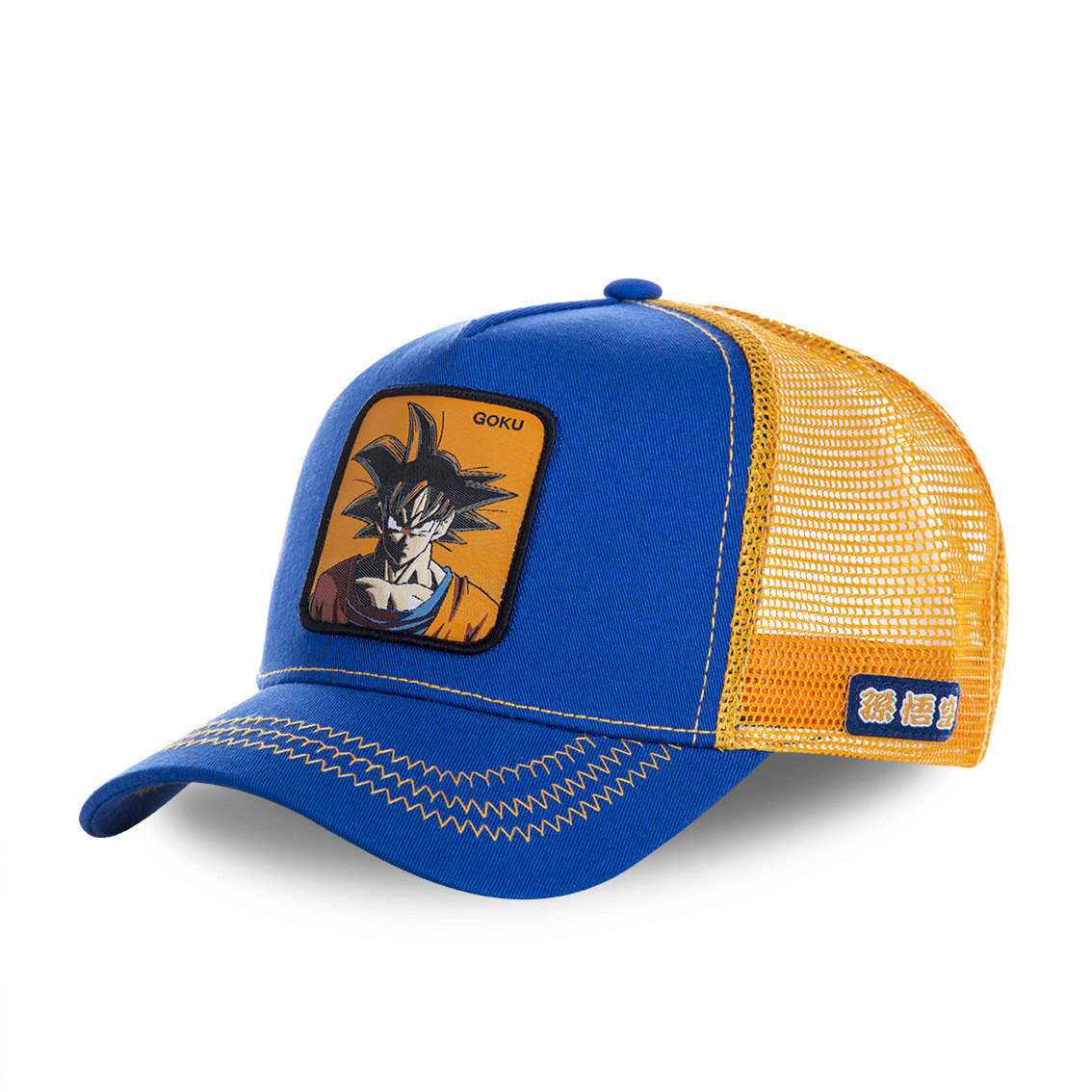 Casquette capslab dragon ball z goku bleu et orange (photo)