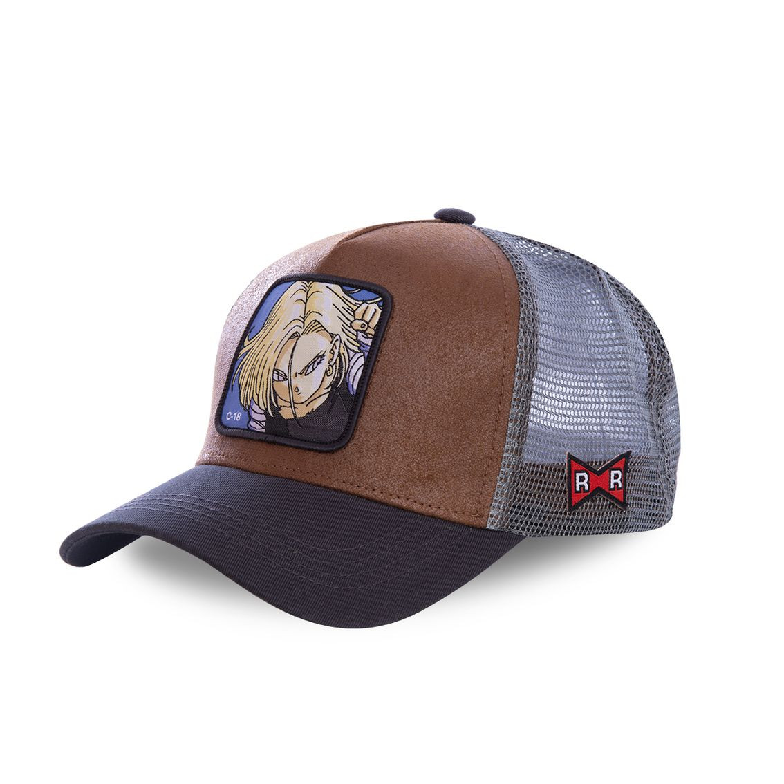 Casquette capslab dragon ball z c-18 marron (photo)
