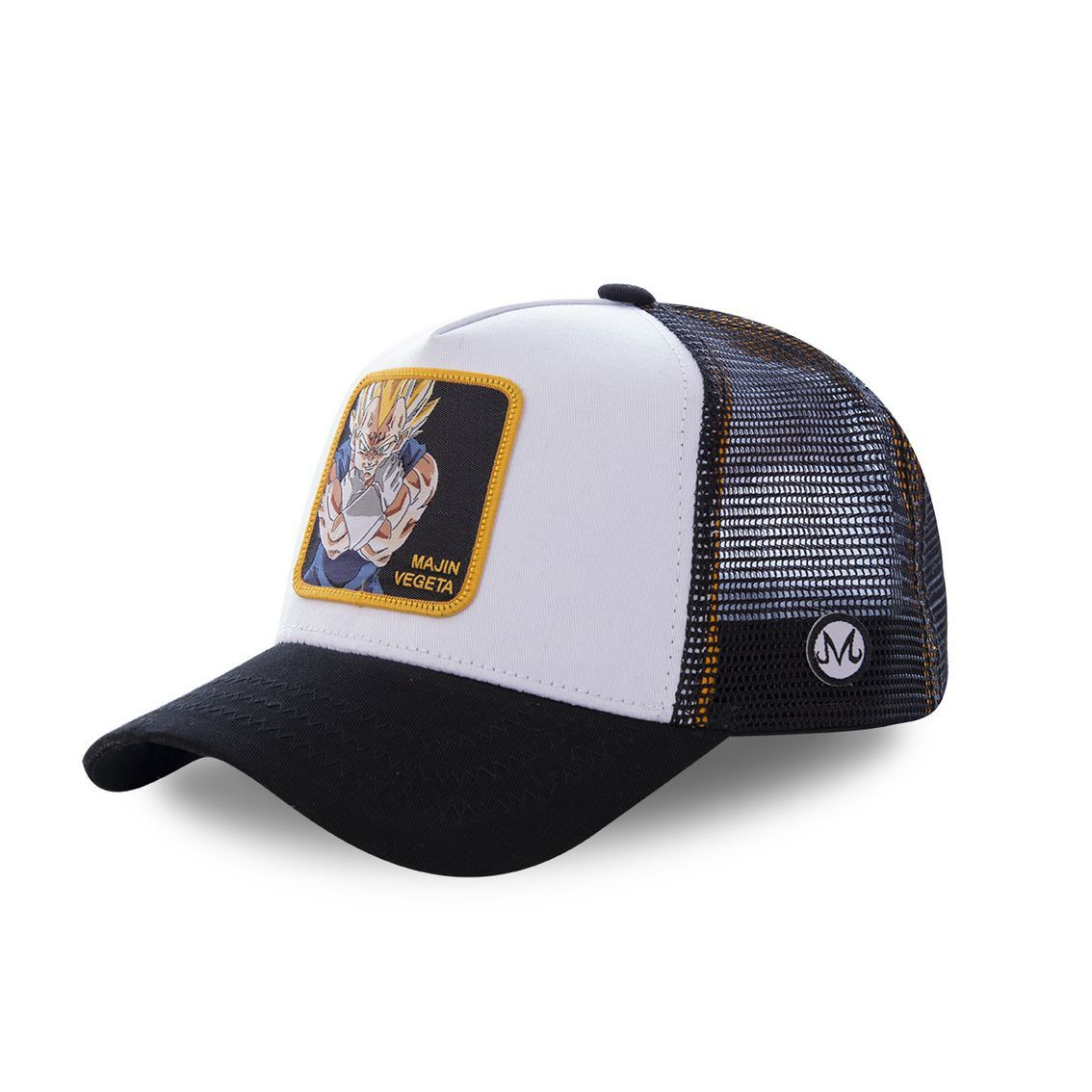Casquette capslab dragon ball z mâjin vegeta blanc et noir (photo)