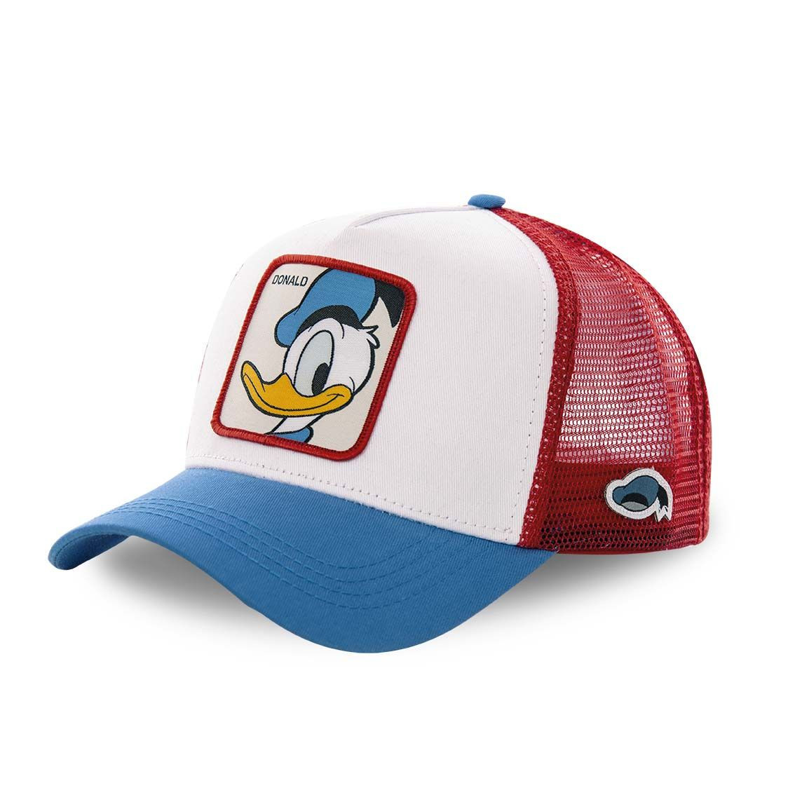 Casquette capslab disney donald blanc filet rouge (photo)