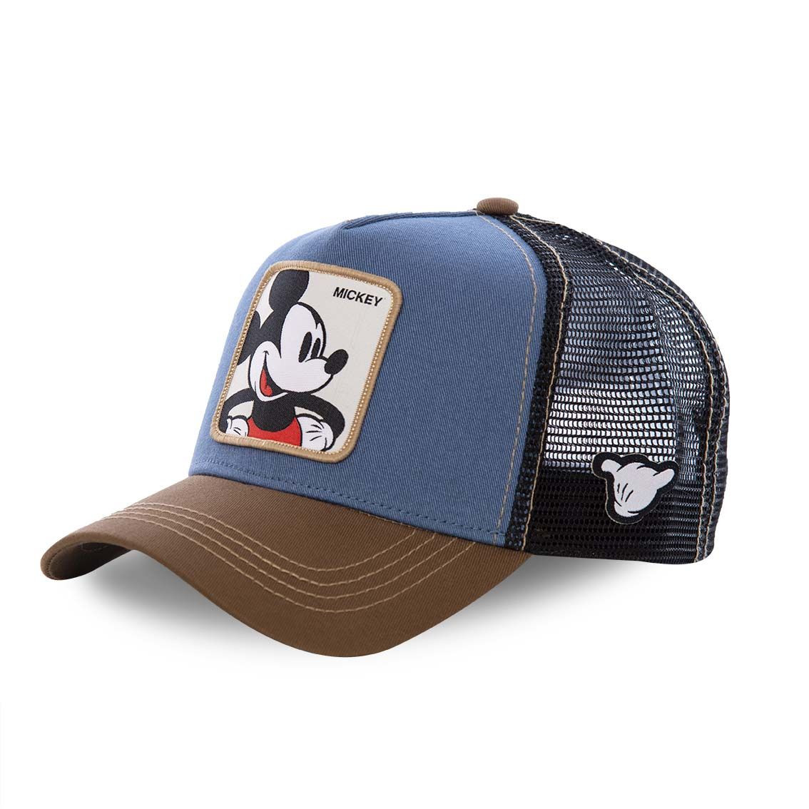 Casquette capslab disney mickey bleu et marron (photo)