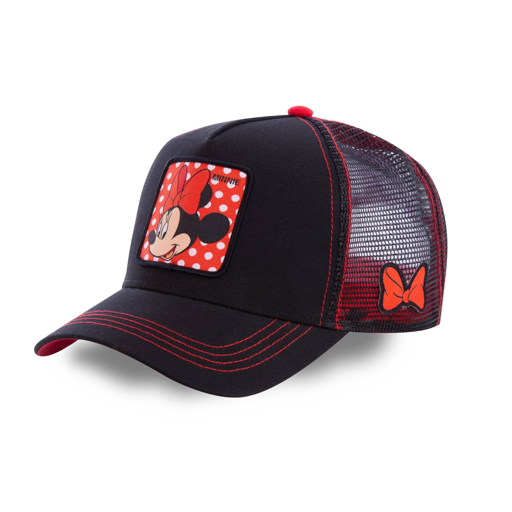 Casquette capslab disney minnie noir et rouge (photo)