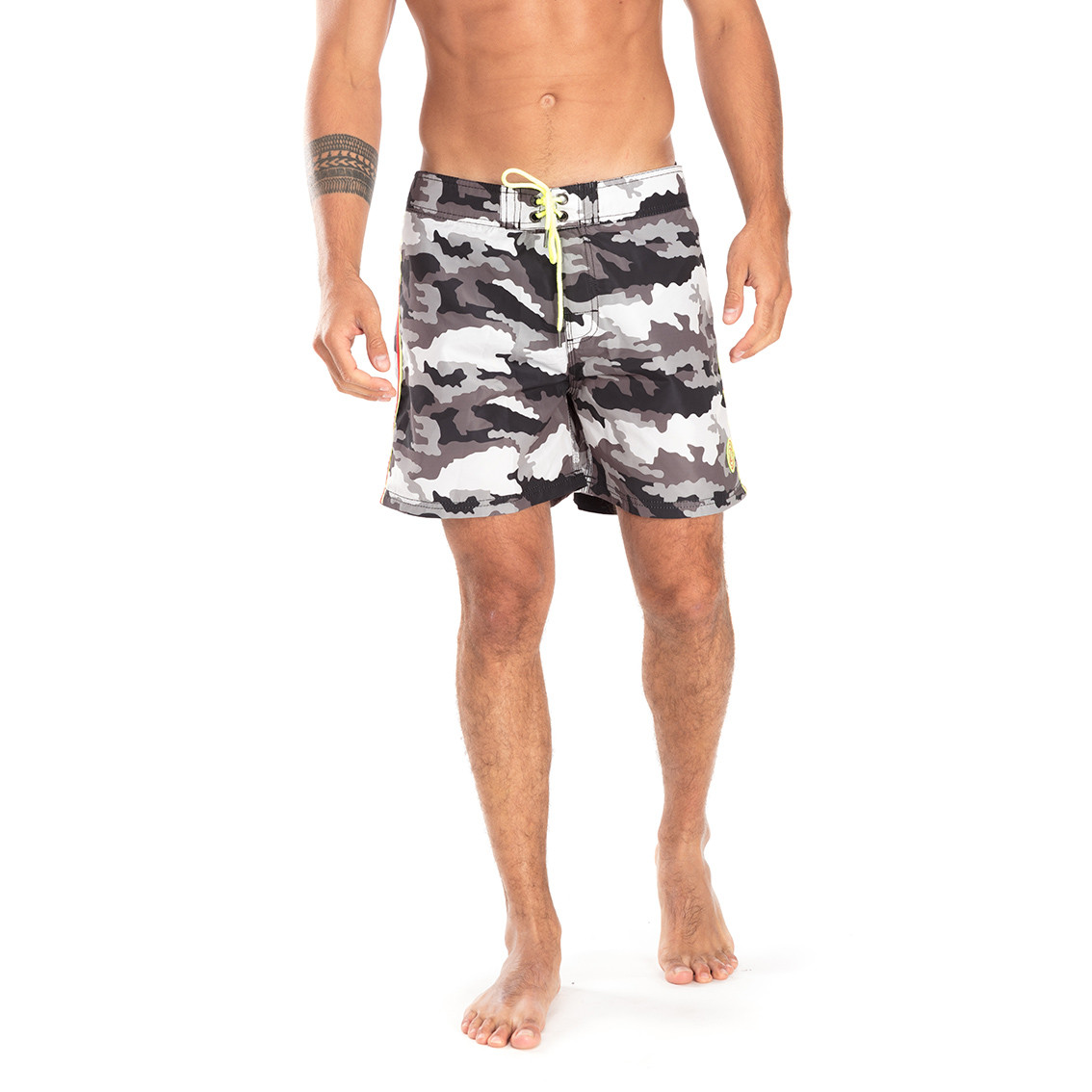 Boardshort homme freegun camouflage vert (photo)