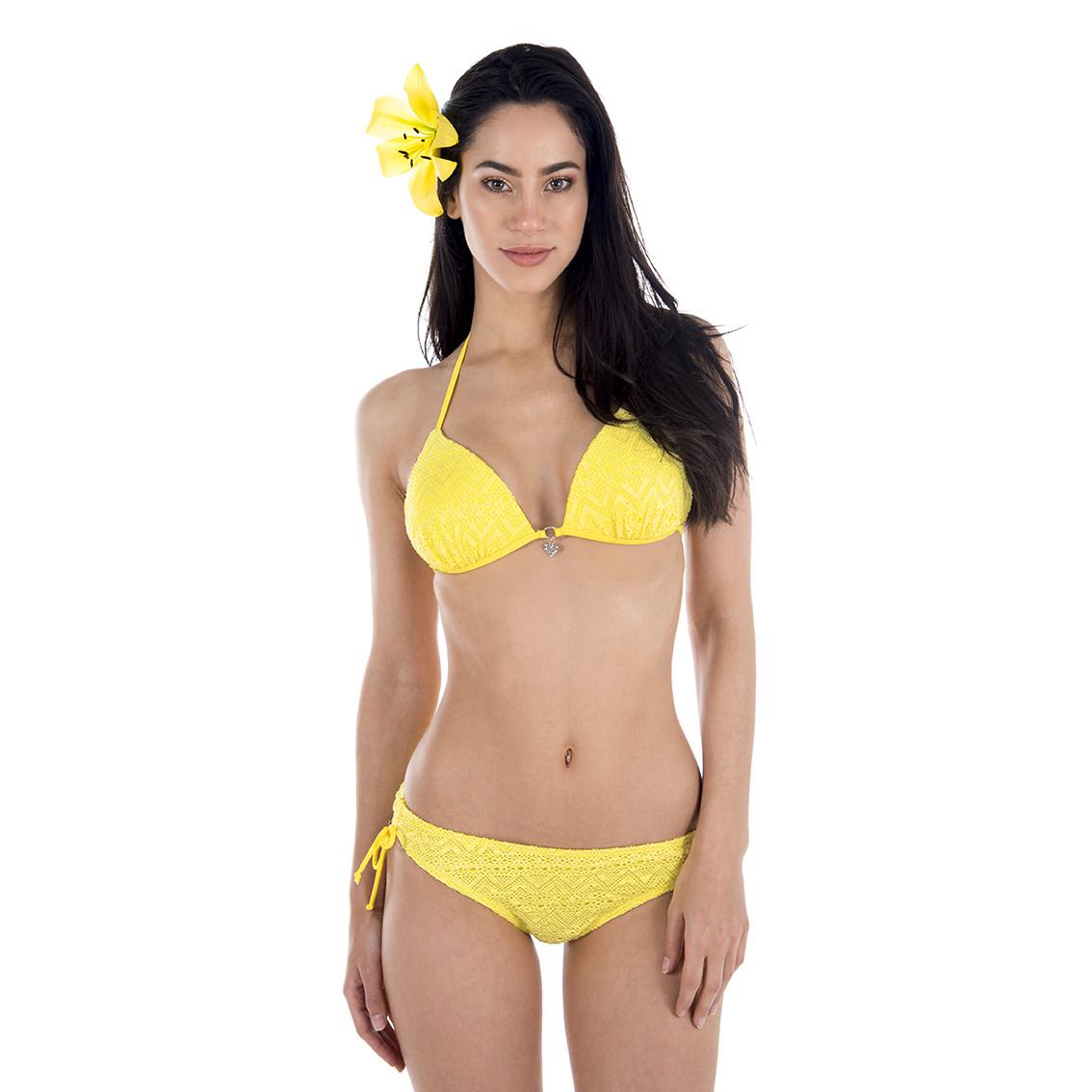 Maillot de bain femme miss freegun 2 pièces jaune (photo)
