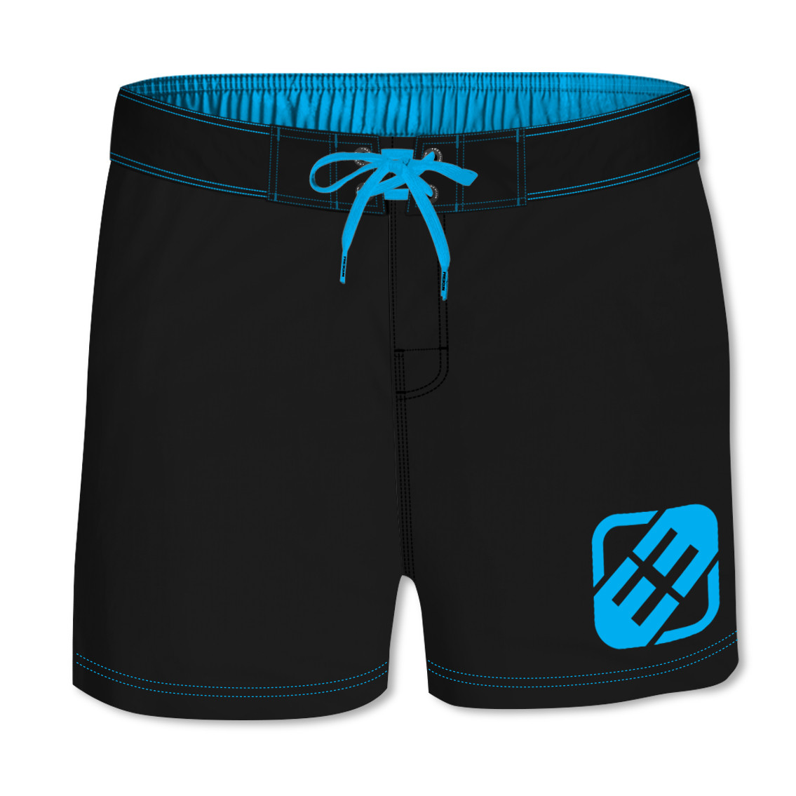 Boardshort court garçon freegun uni bleu (photo)