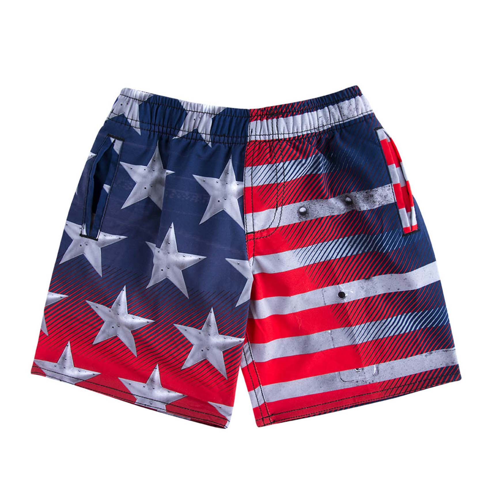 Boardshort bébé freegun us rouge et bleu (photo)
