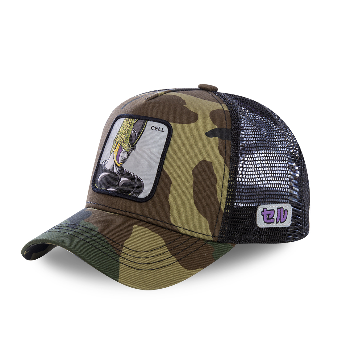 Casquette capslab dragon ball z cell camouflage (photo)