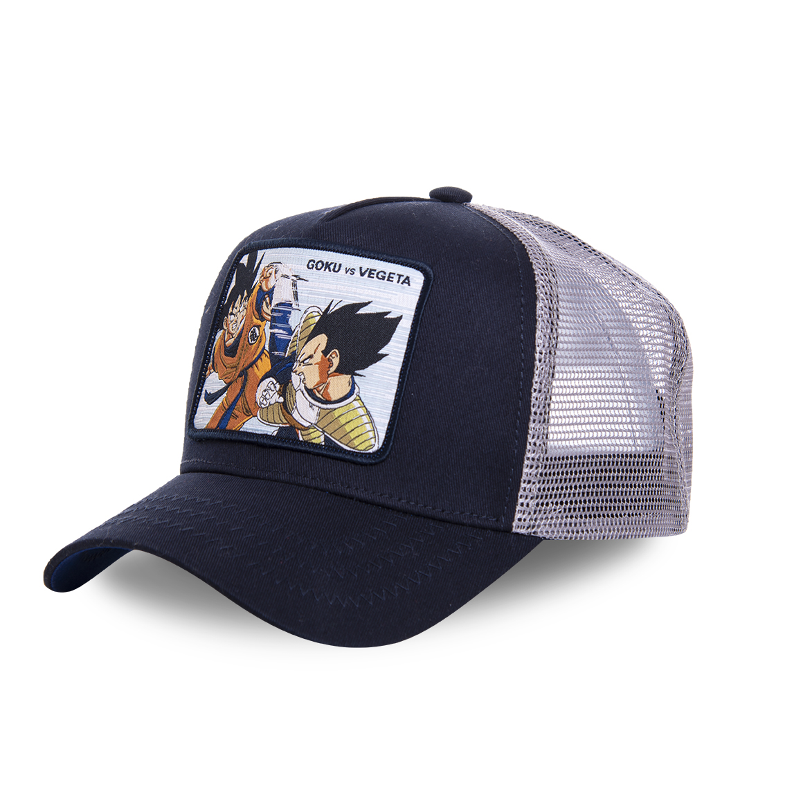 Casquette capslab dragon ball z goku vs vegeta bleu marine (photo)