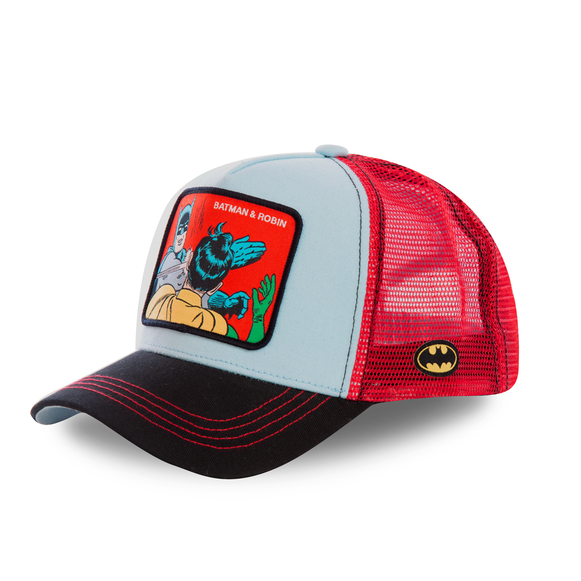 Casquette capslab dc comics batman & robin bleu (photo)