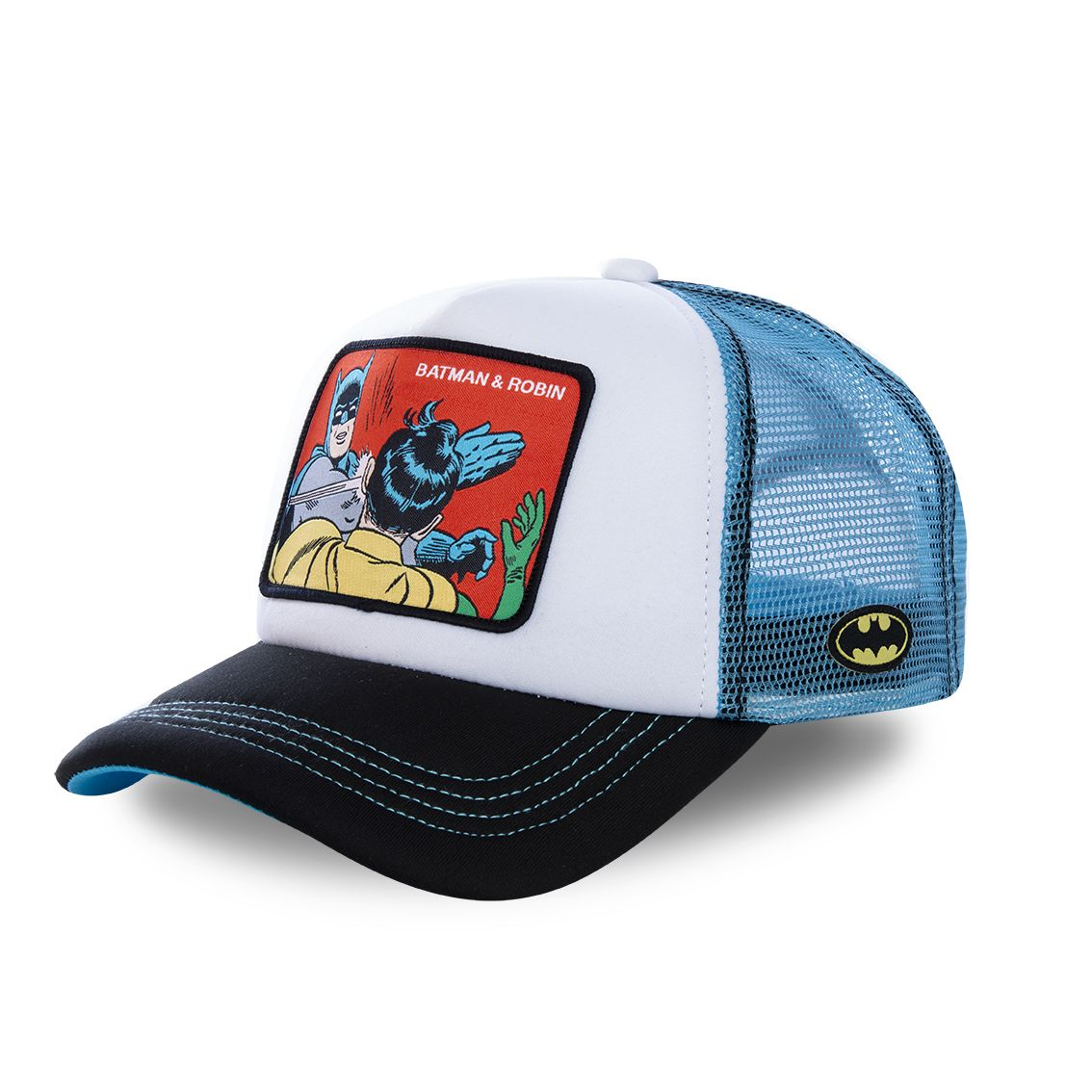 Casquette capslab dc comics batman & robin blanc (photo)